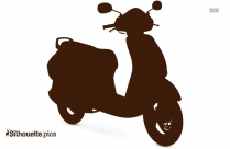 Audi Scooter Clipart || A6 Scooter Razor Silhouette