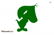 Augie Doggie Silhouette, Free Vector Art