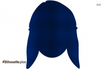 Free Afro Lady Head Silhouette Vector Clipart Download