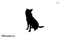 Dalmatian Dog Silhouette, Sitting Dog Clipart