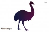 Black Australian Emu Silhouette Image