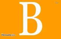 B Capital Alphabet Silhouette
