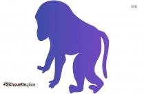 Chimpanzee Silhouette Vector