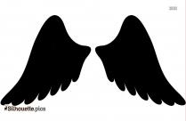 Baby Angel Wings Silhouette