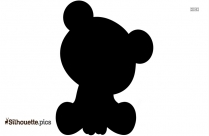 Black And White Baby Koala Silhouette