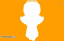 Baby Boy Angel Silhouette Icon