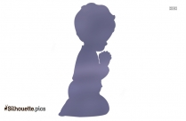 Cartoon Baby Girl Crying Silhouette
