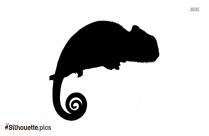 Baby Chameleon Tattoo Silhouette