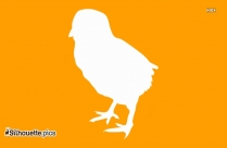 Baby Chicken Silhouette Vector And Graphics