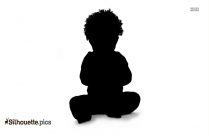 Cartoon Baby Silhouette Background