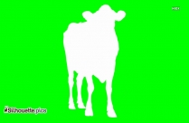 Jumping Cow Clip Art Silhouette Image