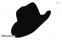 Baby Cowboy Hat Vector Silhouette