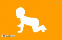 Baby Crawling Silhouette Clip Art