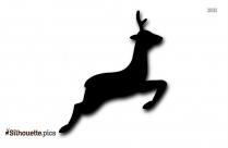 Baby Deer Jumping Silhouette