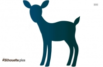 Black Animated Deer Buck Silhouette Image