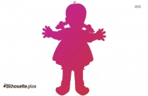 Cartoon Baby Doll Silhouette