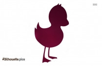 Happy Easter Duck Silhouette Clip Art