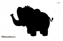 Baby Elephant Animal Silhouette