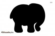 Baby Hippo Silhouette Vector