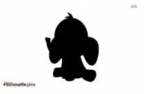 Elephant Cartoon Silhouette Picture, Vector
