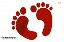 Baby Feet Clip Art Silhouette