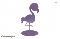 Baby Flamingo Silhouette Background