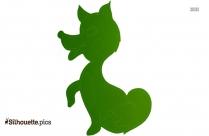 Cute Fox Cub Silhouette