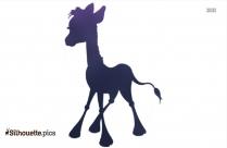 Hand Carved Wooden Carousel Giraffe Silhouette