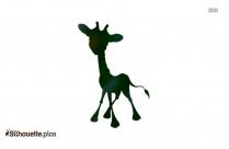 Baby Giraffe Silhouette Free Vector Art