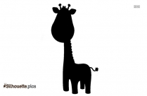 Baby Giraffe Vector Silhouette