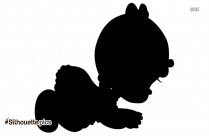 Baby Boy Crawling Silhouette Vector Art