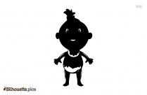 Newborn Baby Girl Silhouette Drawing
