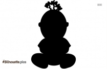 Silhouette Of Sitting Couple