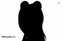 Baby Girl With Mickey Cap Silhouette
