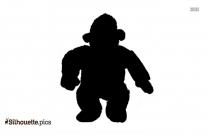 Baby Gorilla Silhouette Icon