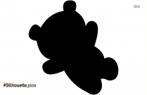 Baby Grizzly Bear Silhouette Free Vector Art