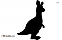 Black Baby Grizzly Bear Silhouette Image