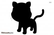 Black Fox Cub Silhouette Image