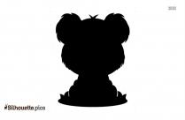 Black Baby Koala Silhouette Image