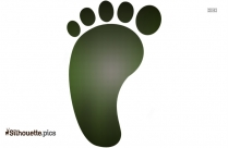 Foot Clip Art Vector Silhouette