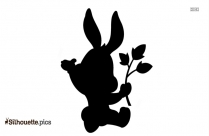 Cute Baby Bunnies Silhouette Background