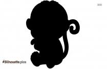 Baby Koala Silhouette Image