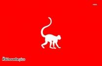 Monkey Silhouette Clip Art Vector