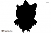 Baby Owl Silhouette Icon