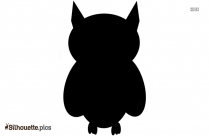 Baby Owl Silhouette Vector And Graphics