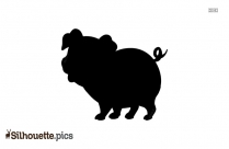 Baby Pig Silhouette