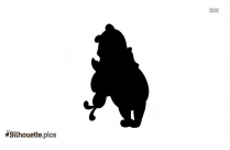 Polar Bear Cartoon Animal Silhouette