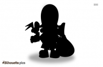 Baby Pirate Silhouette Image