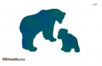 Polar Bear Cartoon Animal Silhouette Image