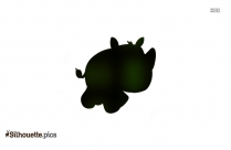 Mother And Baby Rhino Silhouette